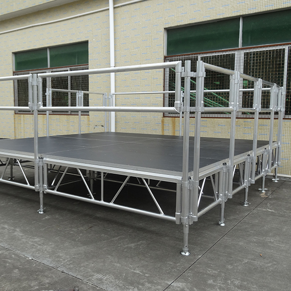 2x1x1m Smile Tech aluminum stage with adjustable Legs